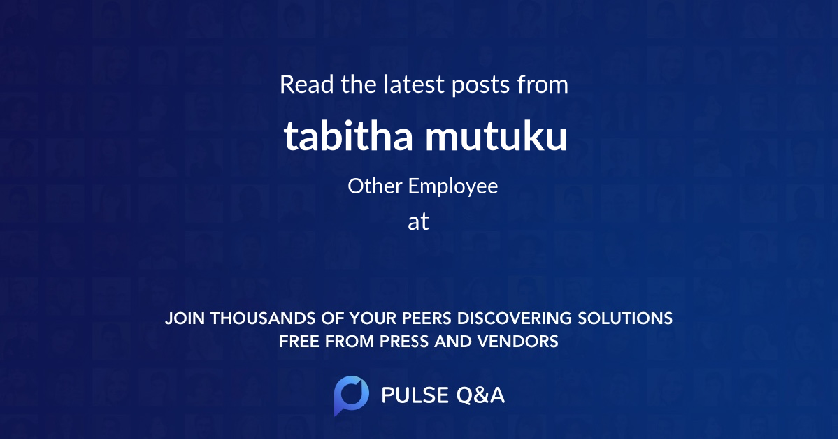 tabitha mutuku
