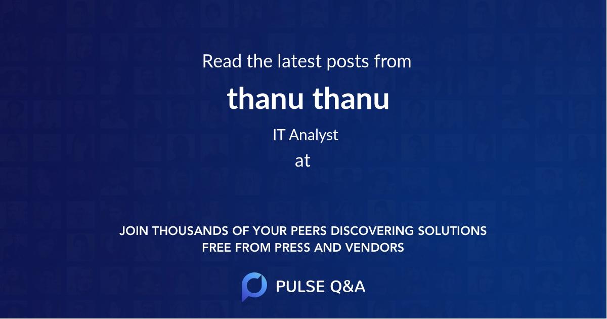 thanu thanu