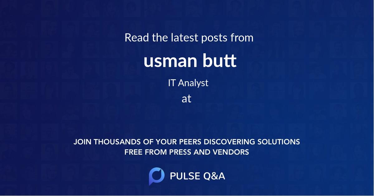 usman butt