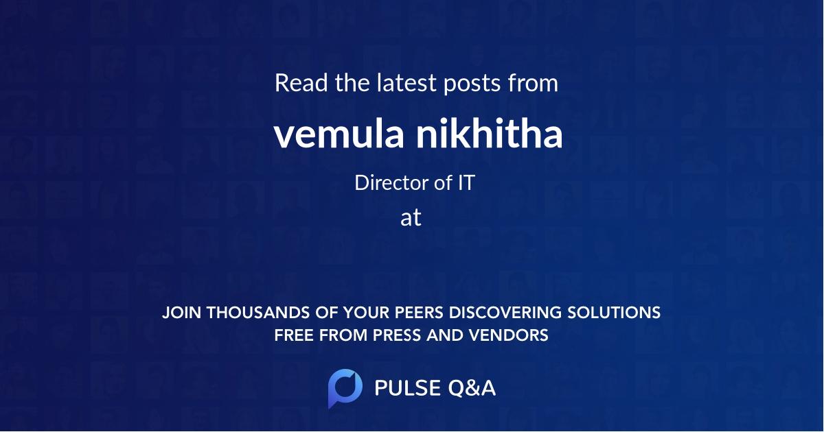 vemula nikhitha
