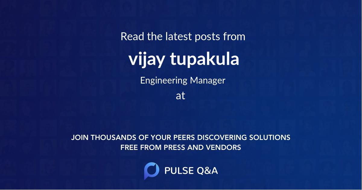 vijay tupakula