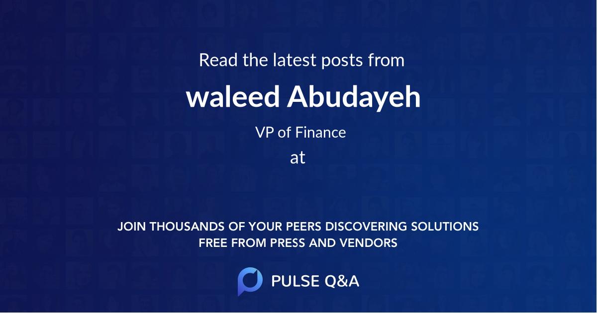 waleed Abudayeh