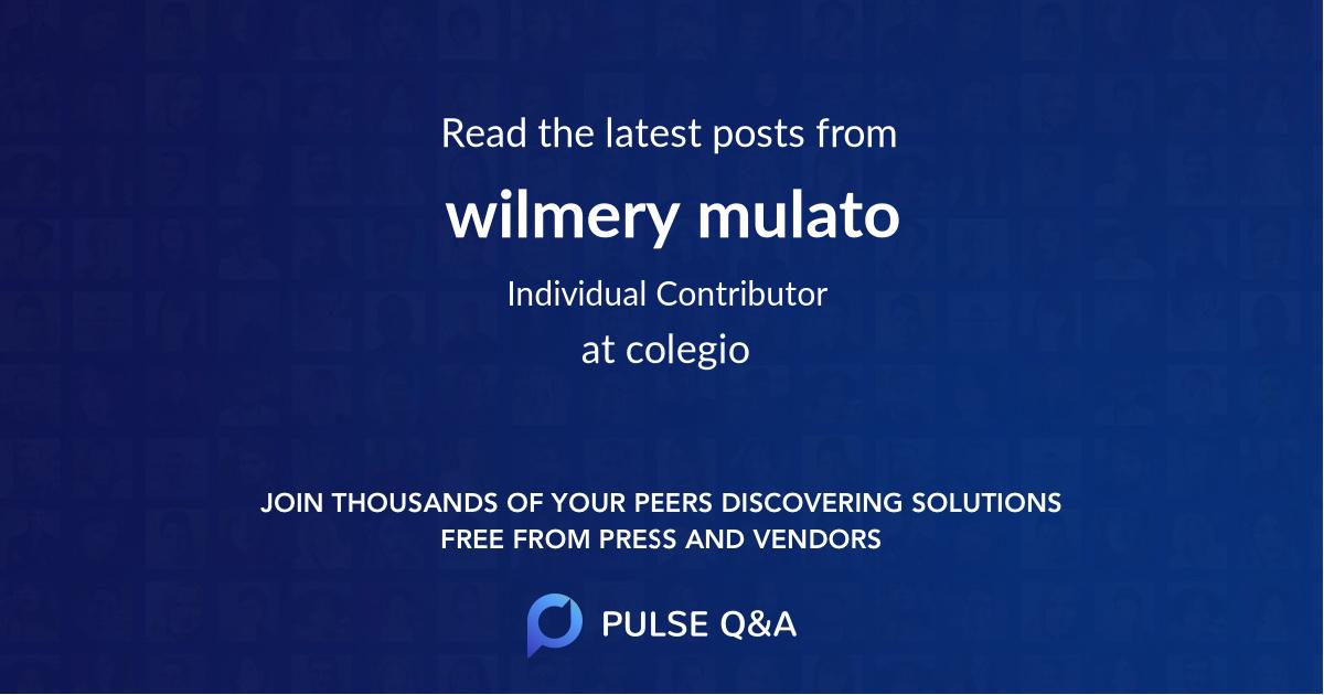 wilmery mulato