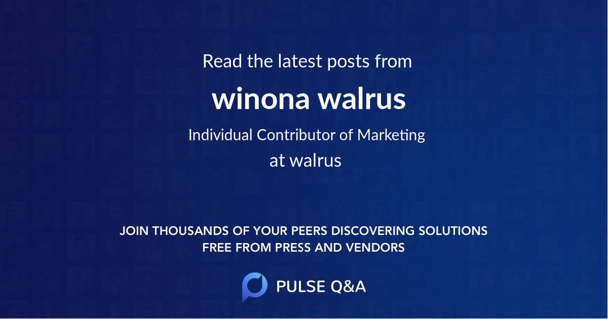 winona walrus