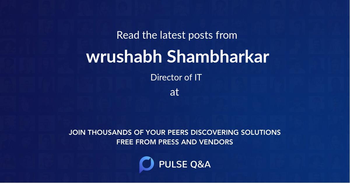 wrushabh Shambharkar