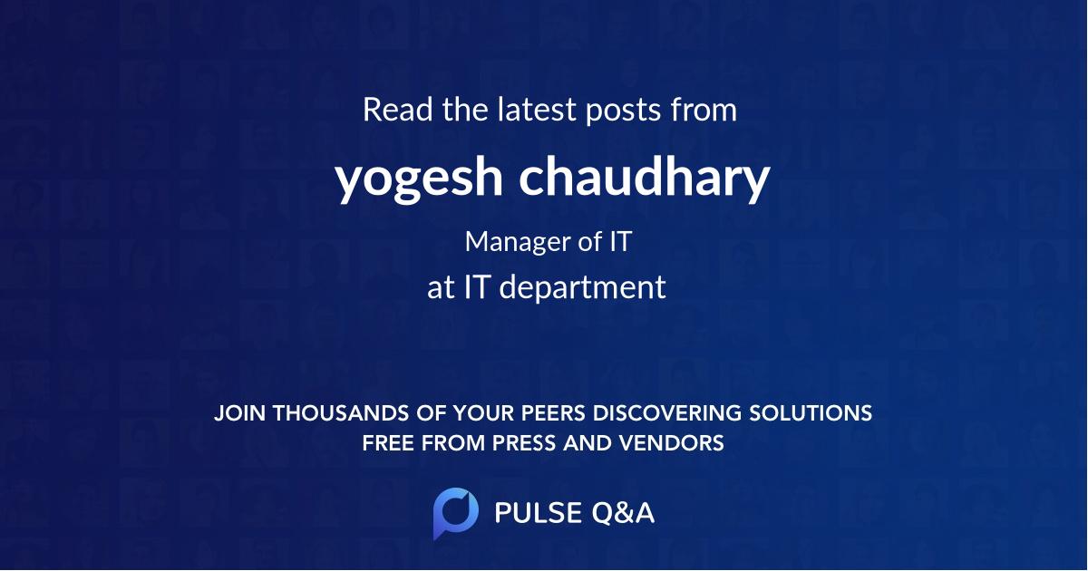 yogesh chaudhary