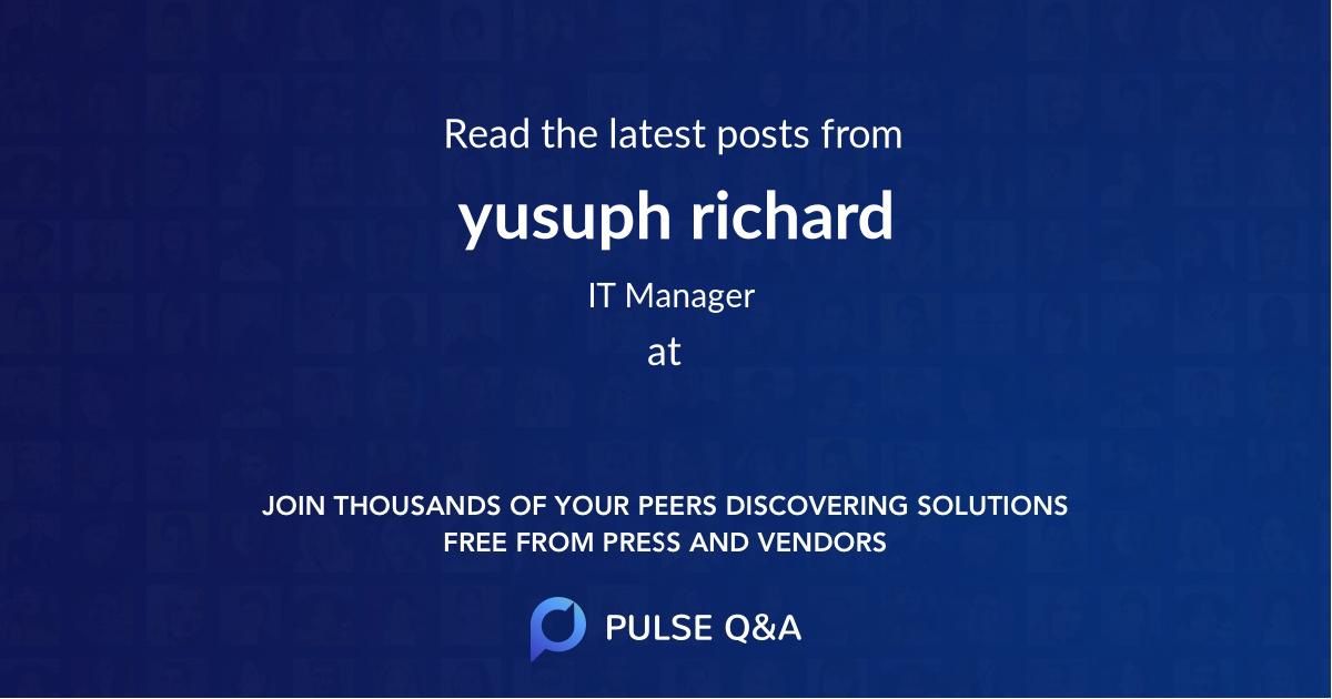 yusuph richard