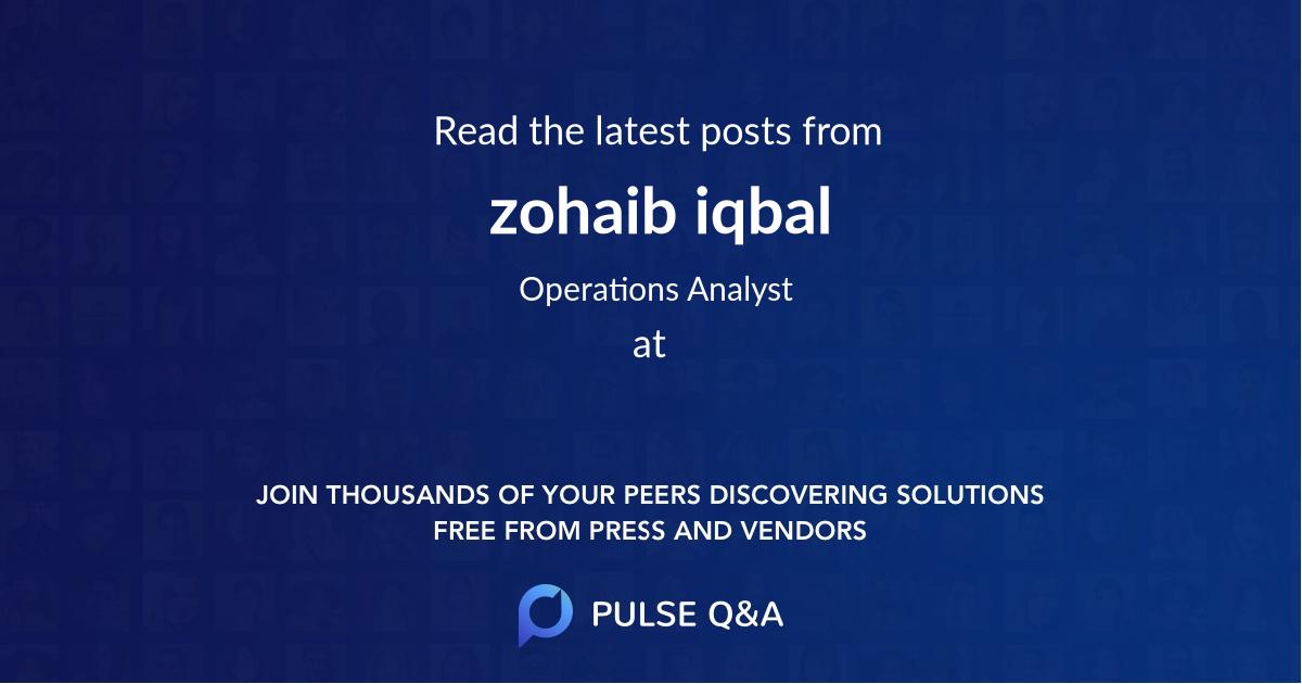 zohaib iqbal