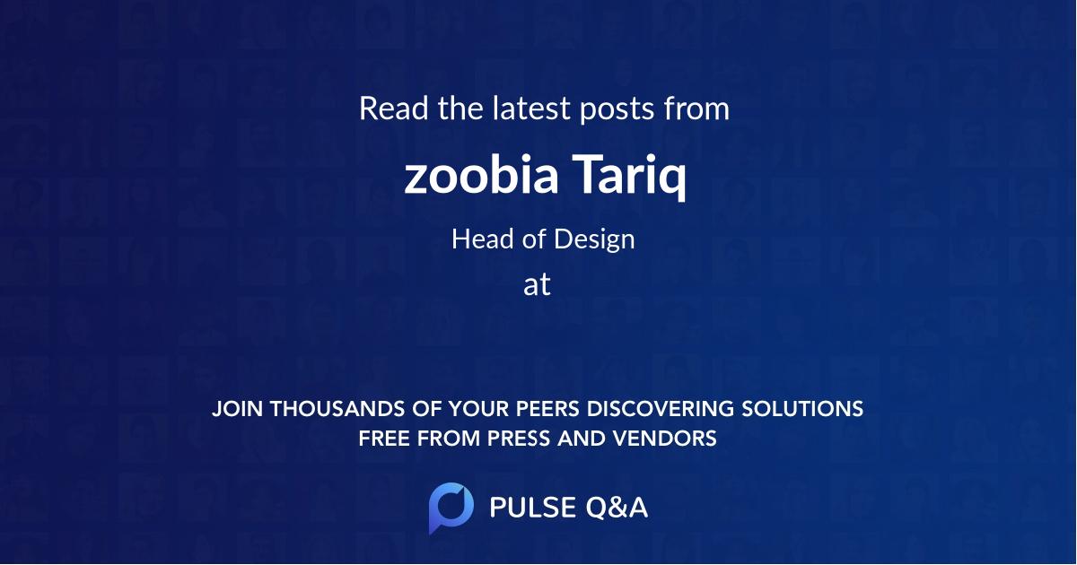 zoobia Tariq