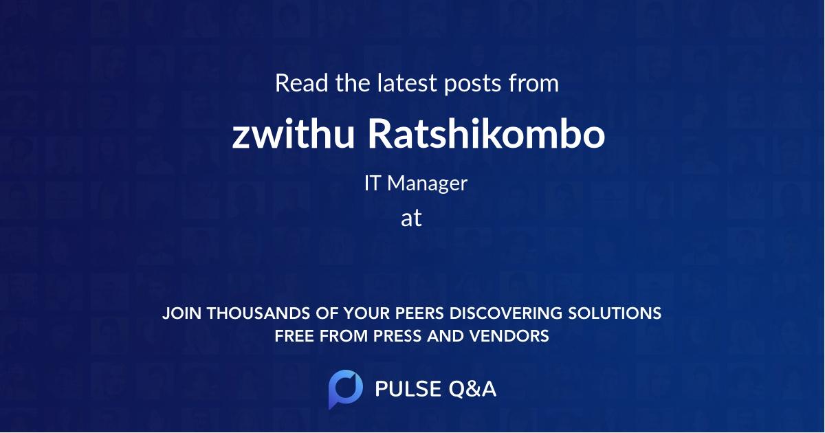 zwithu Ratshikombo