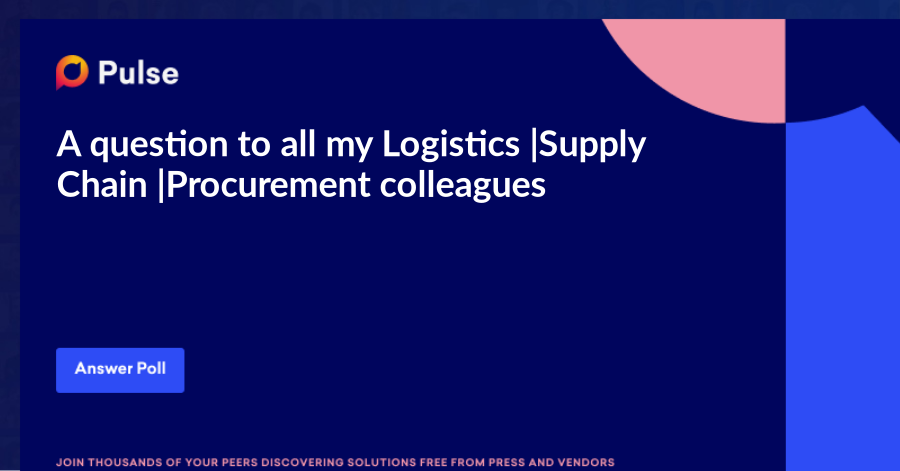 A question to all my Logistics |Supply Chain |Procurement colleagues ...   As a Generation X, what formal education do you believe would yield the highest ROI over the next 10 years?