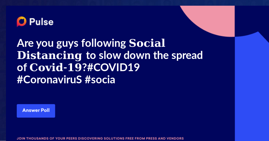 Are you guys following 𝐒𝐨𝐜𝐢𝐚𝐥 𝐃𝐢𝐬𝐭𝐚𝐧𝐜𝐢𝐧𝐠 to slow down the spread of 𝐂𝐨𝐯𝐢𝐝-𝟏𝟗?  #COVID19 #CoronaviruS #socialdistancing #stayhome #staysafe
