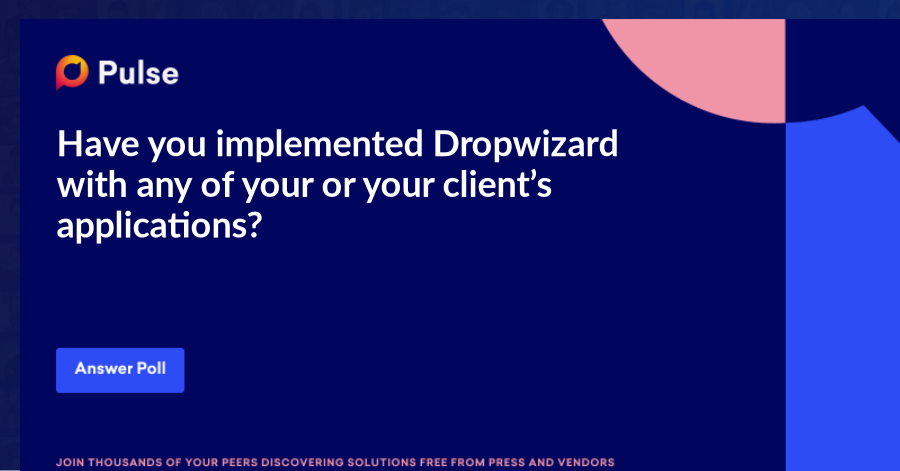 Have you implemented Dropwizard with any of your or your client's applications? And how's it important? Please share your feedback below