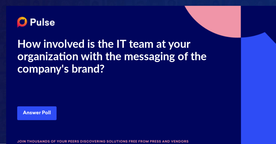 How involved is the IT team at your organization with the messaging of the company's brand?