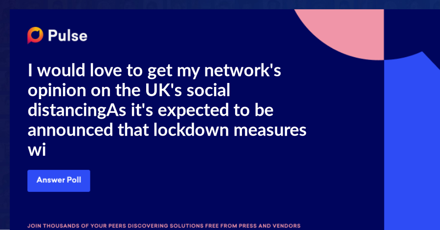 I would love to get my network's opinion on the UK's social distancing. As it's expected to be announced that lockdown measures will be eased in the UK as early as Monday, what are you thoughts?