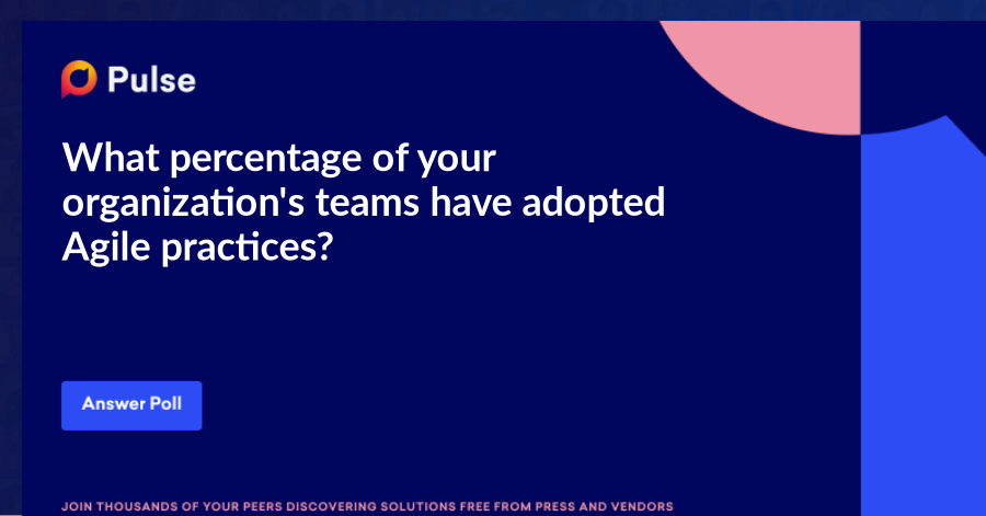 What percentage of your organization's teams have adopted Agile practices?