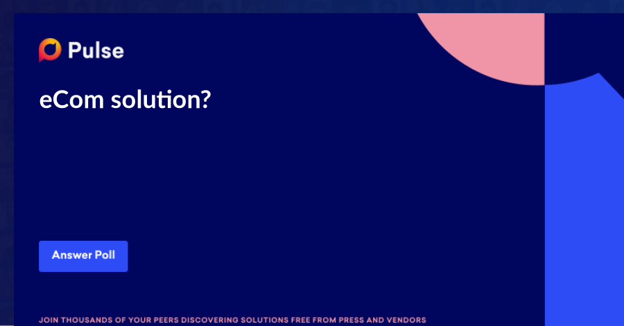 eCom solution?